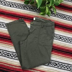 GAP Skinny Utility Womens Dark Green khakis Sz 10R